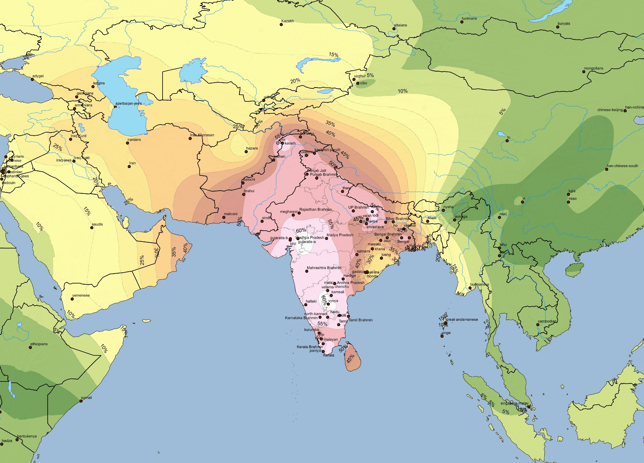 Harappa World Map.Map Harappa Ancestry Project